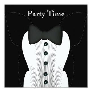 Invitation Birthday Black Tie Suit