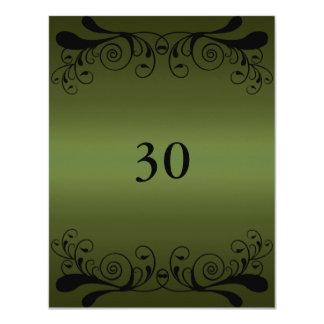 Invitation Birthday Dark Green & Black Floral Glam