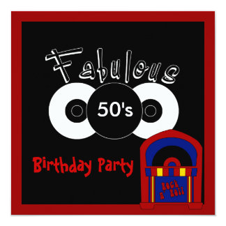 Invitation Birthday Party Fabulous 50's