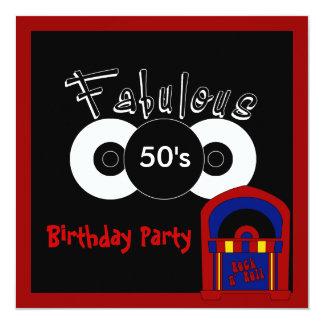 Invitation Birthday Party Fabulous 50's