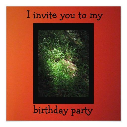Invitation - Birthday Party - Orange