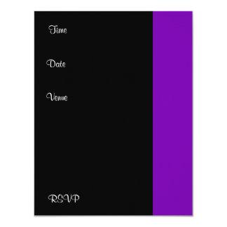 Invitation Birthday Party Purple black White