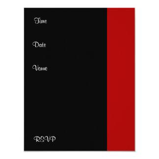 Invitation Birthday Party Red black White