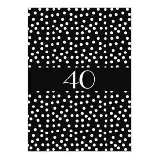 "Invitation Birthday Spots Black and White 5"" X 7"" Invitation Card"