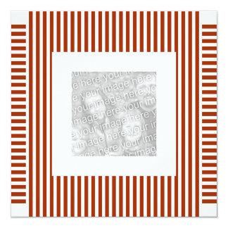 Invitation Birthday Stripe Red White Photo