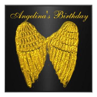 Invitation Black Gold  Wings