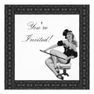 Invitation  Black & White Style Pin-Up Girl 5