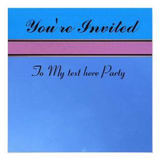 Invitation - Blue and Pink - Multi-occasion