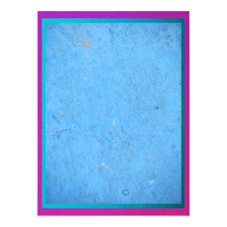 "Invitation - Blue with Purple Trim - Multipurpose 6.5"" X 8.75"" Invitation Card"