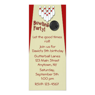 Invitation Bowling Party