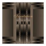Invitation Brown Art Deco Personalized Invite