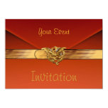 Invitation Burnt Orange Velvet Jewel Gold Clutch Announcements