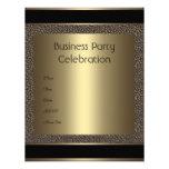 Invitation Business Brown Black Bronze Pebble Invite
