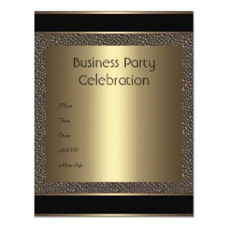 """Invitation Business Brown Black Bronze Pebble 4.25"""" X 5.5"""" Invitation Card"""