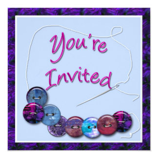 Invitation - Buttons and Needle