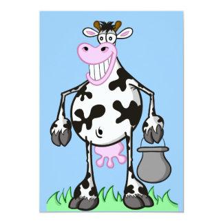 """invitation card """"funny cow"""""""