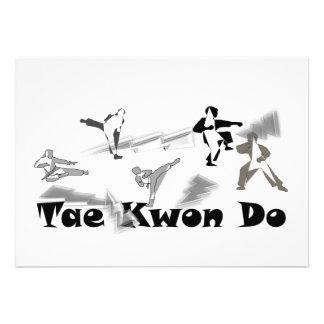 invitation card martial arts belt Tae Kwon Do