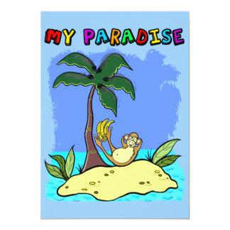 "invitation card ""my paradise"""