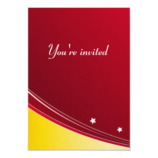 Invitation card - the red elegance I