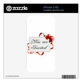 Invitation card >> You Are Invited iPhone 4 Skins