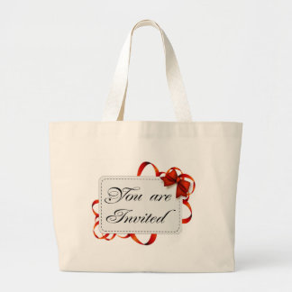 Invitation card >> You Are Invited Large Tote Bag