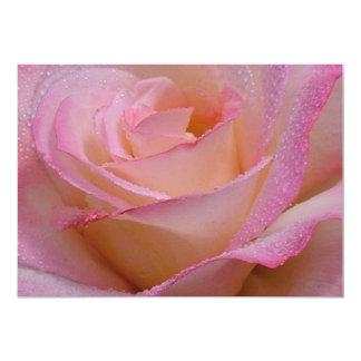 Invitation Cards Beautiful Pink Rose