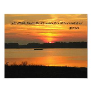 Invitation Cards: Our attitude toward life determi