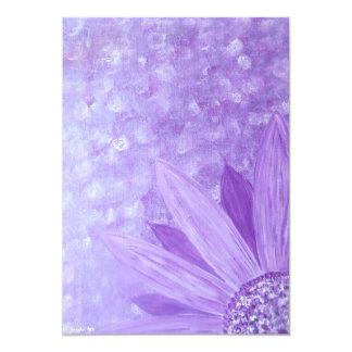 "Invitation cards - Purple Flower - French Artist 5"" X 7"" Invitation Card"