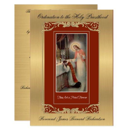 Invitation Catholic Ordination To Holy Priesthood Zazzle Com