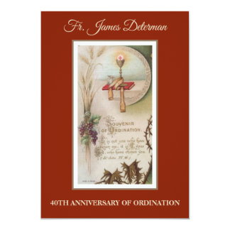 Ordination to the priesthood invitations announcements zazzle invitation catholic priest ordination anniversary stopboris Choice Image