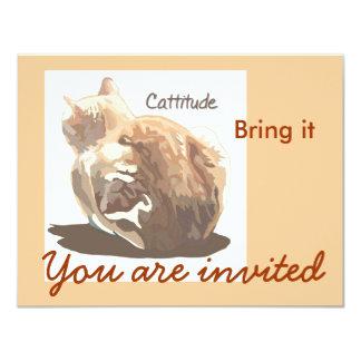 Invitation- Cattitude 4.25x5.5 Paper Invitation Card