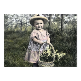 Invitation Child with flowers