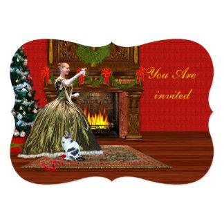 Invitation, Christmas Party, Vintage Holiday Toast Card