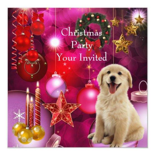 Invitation Christmas Party Xmas Dog