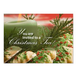 Invitation Christmas Tea Party, Cookies, Pine Bran