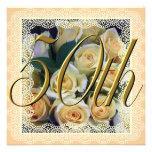 Invitation - Creamy Yellow Rose Bouquet