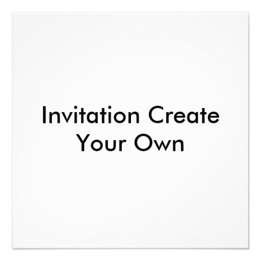 """Invitation Create Your Own Invitations 5.25"""" Square"""