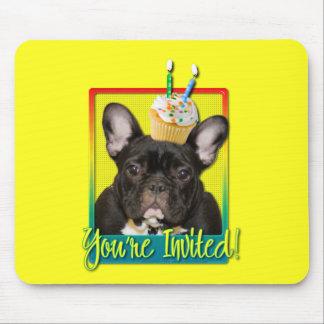 Invitation Cupcake 2 Year Old - French Bulldog Mouse Pad