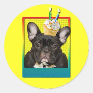 Invitation Cupcake 2 Year Old - French Bulldog Sticker