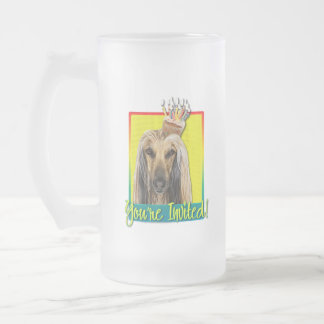 Invitation Cupcake - Afghan Frosted Glass Beer Mug