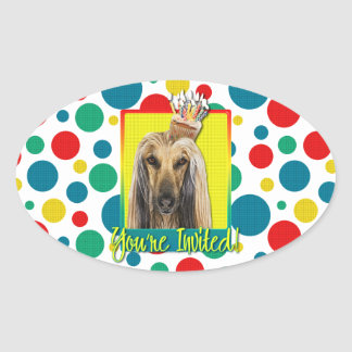 Invitation Cupcake - Afghan Oval Sticker