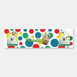 Invitation Cupcake - American Eskimo Bumper Sticker