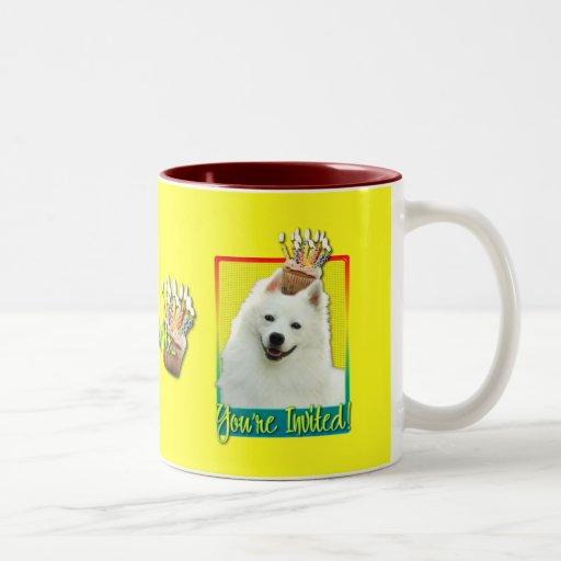 Invitation Cupcake - American Eskimo Coffee Mugs