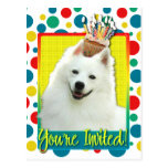 Invitation Cupcake - American Eskimo Postcard
