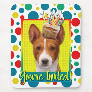 Invitation Cupcake - Basenji Mouse Pad