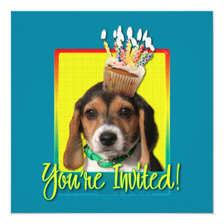 Invitation Cupcake - Beagle Puppy - Chloe