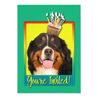Invitation Cupcake - Bernese Mountain Dog
