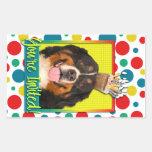 Invitation Cupcake - Bernese Mountain Dog Rectangular Stickers