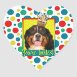 Invitation Cupcake - Bernese Mountain Dog Heart Sticker