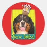 Invitation Cupcake - Bernese Mountain Dog Stickers